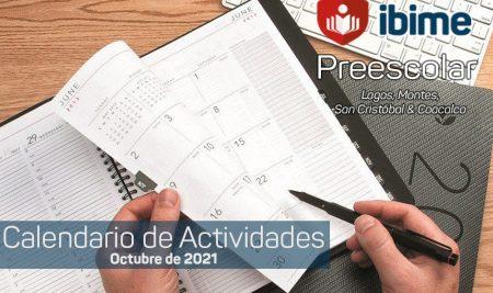 .: Preescolar IBIME   Calendario de Actividades-OCT21 :.