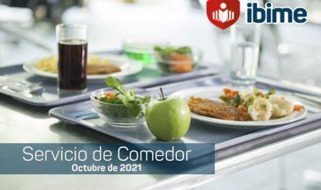 .: IBIME   Servicio de Comedor – Menú Octubre 2021 :.